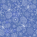 Blue christmas repeating pattern Royalty Free Stock Images