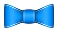 Blue christmas ribbon bow with light shadow Royalty Free Stock Image