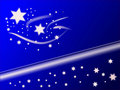 Blue Christmas Stars Background Stock Photos