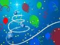 Blue Christmas Tree Background...