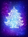 Blue christmas tree backgrounds Stock Images