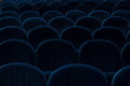 Blue cinema or theater seats Royalty Free Stock Photo