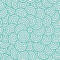 Blue circle seamless pattern