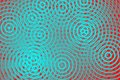 Blue circles on red background Royalty Free Stock Photo