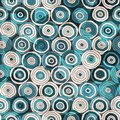 Blue circles seamless pattern with glass effect Royalty Free Stock Photo