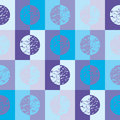 Blue circles and squares Royalty Free Stock Images