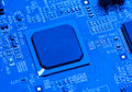 Blue circuit board background of computer Royalty Free Stock Photo