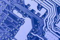 Blue circuit board macro Stock Images