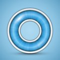 Blue circular progress bar vector illustration of round Stock Photo