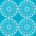 Blue circular seamless pattern luxury Stock Image