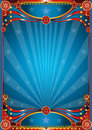 Blue circus background Stock Images