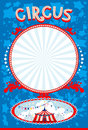 Blue circus poster with space for text Royalty Free Stock Photography