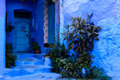 The blue city Chefchaouen Morocco Royalty Free Stock Photo