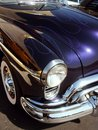 Blue classic American Hotrod Royalty Free Stock Images