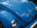 Blue classic car Royalty Free Stock Photography