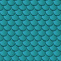 Blue clay roof tiles seamless pattern Royalty Free Stock Images