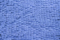 Blue cleaning feet doormat or carpet for clean your Stock Images