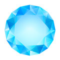 Blue clear diamond top view vector isolated illustration Stock Photo