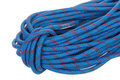 Blue Climbing Rope Stock Image