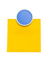 Blue Clip With Yellow Sticky N...