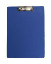 Blue clipboard plastic isolated with clipping path included Stock Image