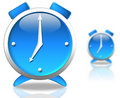 Blue clock Royalty Free Stock Images