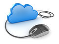 Blue cloud and computer mouse