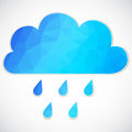 Blue cloud with rain drop of triangles Royalty Free Stock Photo