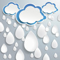 Blue clouds white full drops one direction dropson the grey background eps file Stock Photography