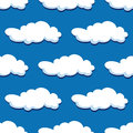 Blue cloudy sky seamless pattern for nature or background design Royalty Free Stock Photo
