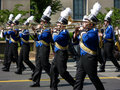 Blue Coated Marching Band Stock Images
