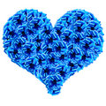 Blue Cockades Heart Royalty Free Stock Image