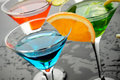Blue cocktail drink Royalty Free Stock Photo