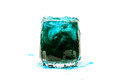Blue coctail drink with ice cubs isolate Royalty Free Stock Photo