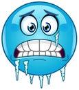 Freezing emoticon