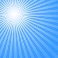 Blue cold sun Στοκ Εικόνα