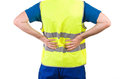 Blue collar worker image of a Royalty Free Stock Photography