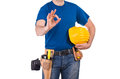 Blue collar worker image of a Royalty Free Stock Photo