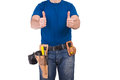 Blue collar worker image of a Stock Image