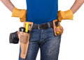 Blue collar worker image of a Royalty Free Stock Images