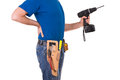 Blue collar worker image of a Stock Photo
