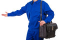 Blue collar worker image of a Stock Photos
