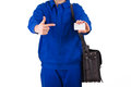 Blue collar worker image of a Stock Images