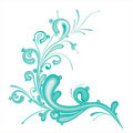 Blue color  flourish Stock Photo