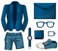 Blue color set flashcard