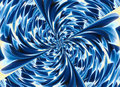 Blue colored twirl relief crystal backgrounds background Royalty Free Stock Images