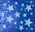 Blue Colorful Stars Pattern Stock Photography
