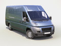 Blue commercial delivery van Stock Image