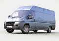 Blue commercial delivery van Royalty Free Stock Photo
