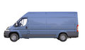Blue commercial delivery van isolated on a white background Royalty Free Stock Photography